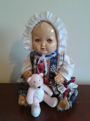 Sweet Vintage Palitoy Patsy Tiny Tears Drink And Wet Baby Doll - 15 Inches