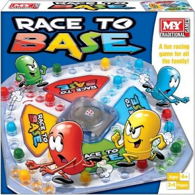 Race To Base Board Game Traditional Family Classic Kandy Toys NEW Ideal Gift