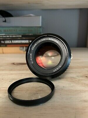 Nikon Nikkor 50mm f1.4 Ai Lens With UV Filter