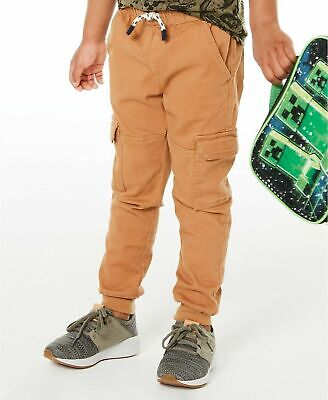 Epic Threads Boys Canvas Cargo Style Jogger Pants Trousers Age 2- 3 years Brown