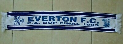 Everton FC Scarf FA Cup Final Wembley 1995