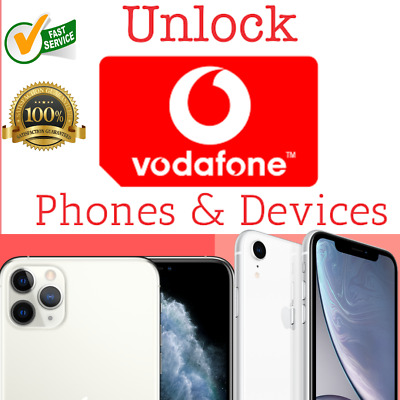 VODAFONE UK NETWORK ONLY IMEI UNLOCK for iPhone 6 6s 7 7 Plus 8 X XS XS MAX 11