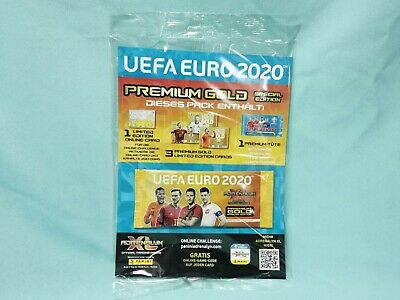 Panini Adrenalyn XL Uefa Euro EM 2020 1 x Premium Gold Booster Limited Edition