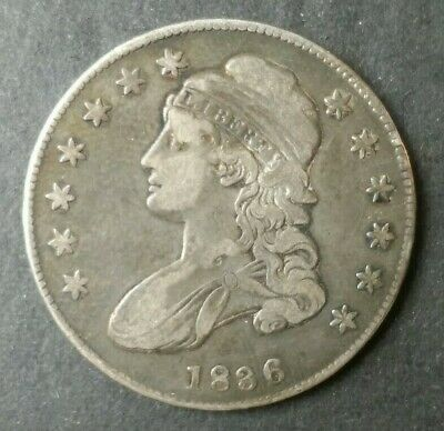 1836 50c Capped Bust Silver Half Dollar