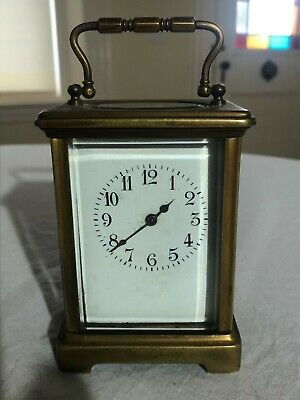S F R A antique carriage brass clock  made in france