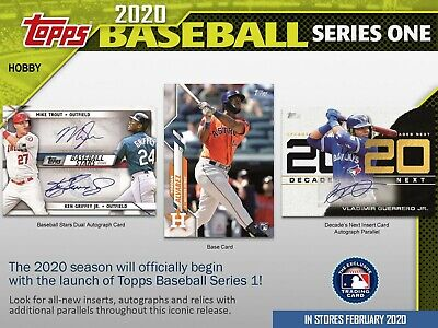 2020 TOPPS Series 1 BASEBALL MLB Retail FAT PACK - 34 Cards - JUST IN - Sealed