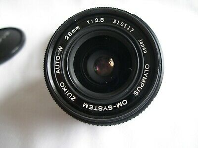 OLYMPUS OM ZUIKO AUTO-W 28MM F2.8 FAST WIDE ANGLE LENS Excellent-Near Mint
