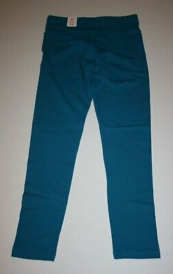 New Justice Leggings Girls 18 20 yr Stretch Soft Pants Turquoise Blue Full Le