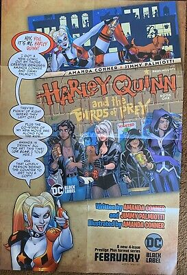 HARLEY QUINN & THE BIRDS OF PREY POSTER 3 FEET by 2 FEET SHIPS FOLDED IN 8ths