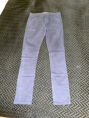 Next Age 12 Plus Boys Navy Chinos With Elasticated Waist