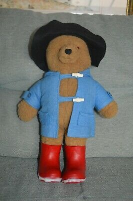 "Paddington Bear 14"" tall Paddington Classic with Red Boots and Hat"