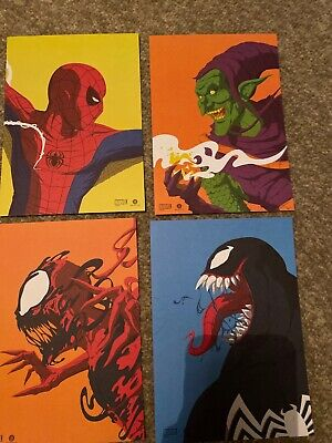 Loot Crate Edition Spider-Man Face-Off Art Print Set New