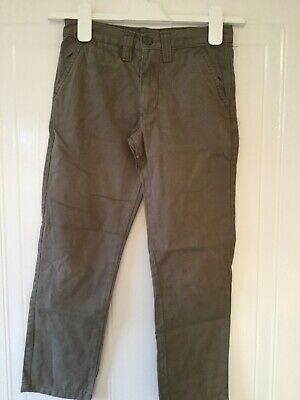 Primark Boys Slim fit Beige Canvas trousers age 7/8 years