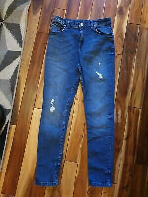 girls size 12yrs distressed skinny jeans by River Island