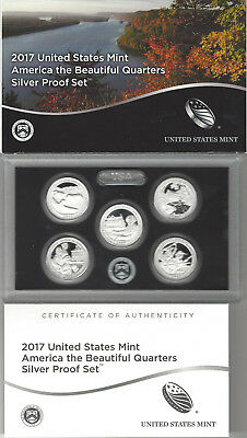 USA: America the Beautiful Quarters Silver Proof Set 2017, Silber