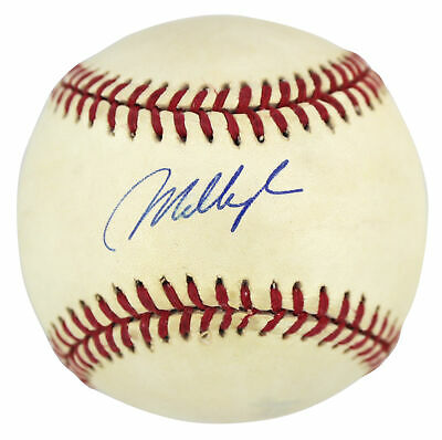 Red Sox Mo Vaughn Authentic Signed Gene Budig Oal Baseball Autographed BAS