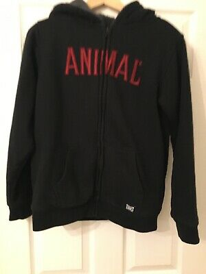 Animal Boys Warm Thick Fleecy Lined Hooded Jacket Age 13-14 Years
