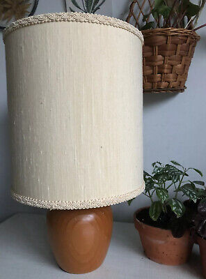 Vintage Original Textured Fabric Brocade Drum Lamp LampShade Mid Century 60s 70s