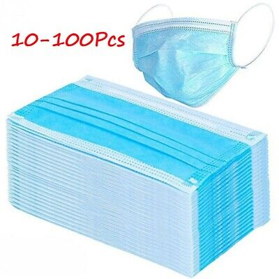 50 pcs Disposable Anti Virus Dust Face Mouth Mask Breathable 3 Layer Masks