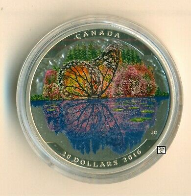 2016'Butterfly-Landscape Illusion' Colorized $20 .9999Fine Silver 1oz(17669)OOAK