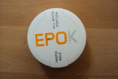 EPOK Kautabak Tropic Gold All white portion NEU OVP ähnlich SNUS u. Oliver Twist