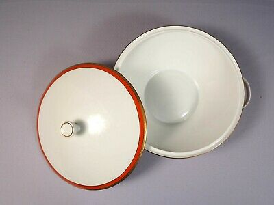 Richard Ginori PALERMO RED Rust Soup Vegetable Tureen LARGE Covered Bowl Italy