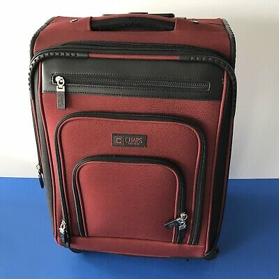 Chaps Rolling 4 Compartment Luggage Carry-on Luggage Travel RedSuitcase 4 wheel