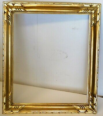 Vintage carved gold leaf frame fits 20 x 24 painting, Newcomb Macklin style