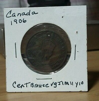 Very Nice 1906 Canada Cent km#8 Bronze  25.5mm 5.67g Look & bid or buy it now!!!