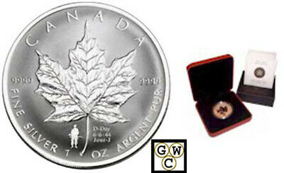 2004 D-Day Double Privy Mark Silver Maple Leaf 1oz .9999 Fine (11017) OOAK