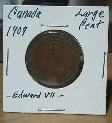 Very Nice km#8 canada Edward VII 1909 cent 25.5mm 5.67g Look & bid buy it now!!!