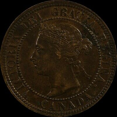 Old Canadian Bronze Coin 1888 Canada Large Cent Victoria Head high grade scarce