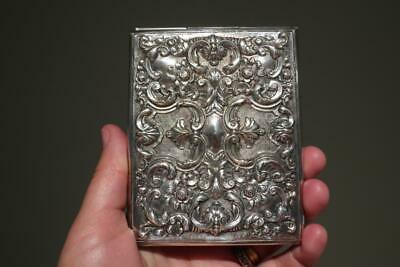 Vintage Silver Plated Notepad Cover Holder - Highly embossed - Collectable - Vgc