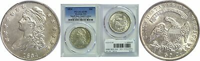 1834 Bust Half Dollar PCGS AU-55 Small Date Small Letters Overton-121