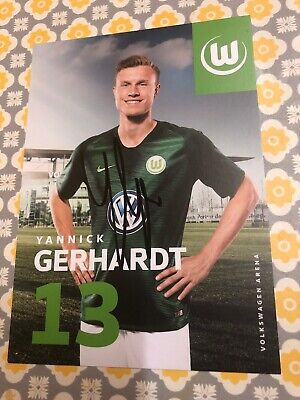Yannick Gerhardt Vfl Wolfsburg Signed Photo