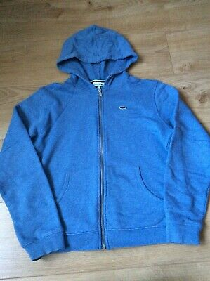 Boys Lacoste hoody hoodie jacket full zip age 12 immaculate condition