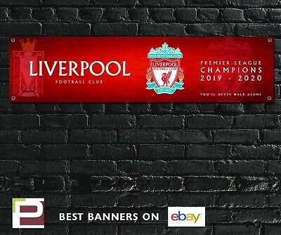 Liverpool Football Club Banner Premier League Champions for Garage, Bedroom etc