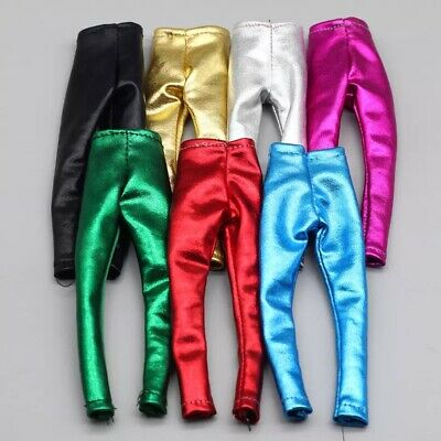 Barbie doll Clothes Party Wear Trousers Shiny Metallic Leggins