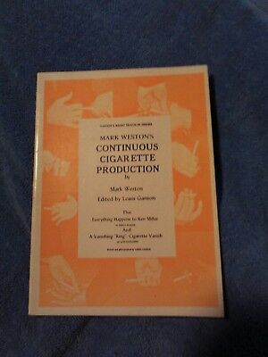 MARK WESTON'S CONTINUOUS CIGARETTE PRODUCTION edited by Lewis Ganson 1977
