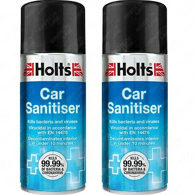 2 x Holts Car Air Con Odour Bomb Air Conditioning Neutraliser & Cleaner 150ml