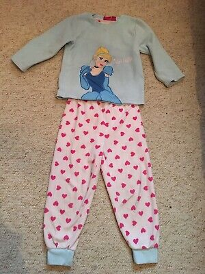 Girls Age 3-4 Cinderella Fleece Pj Set From Primark