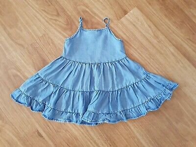 NEXT ~ Beautiful Girl's Blue Denim Summer Sundress ~ Age 4 Years ~ VGC