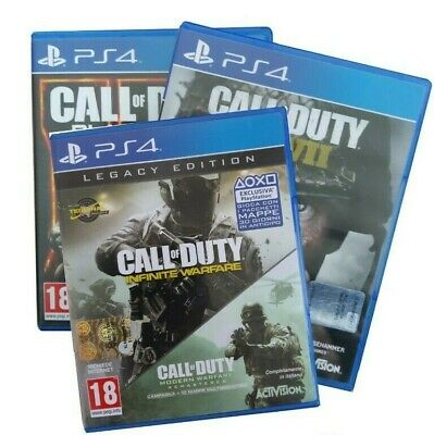 Call of Duty: WWII for ps4+Call of Duty: BLACK OPS3+Call of duty: infinite warfa