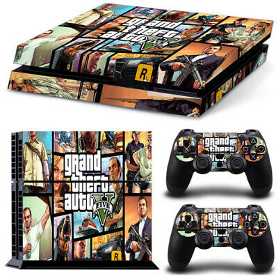 Pegatina GTA 5 Playstation 4 / PS4 / Play 4 Grand Theft Auto V DESDE ESPAÑA
