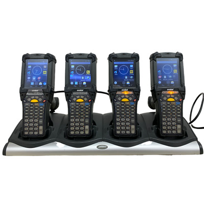 4x Symbol Motorola MC92N0-GM0SYEAA6WR Wireless Barcode Scanners w/Charging Dock