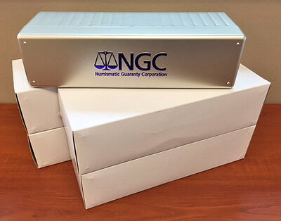 Lot of Four (4) SILVER New NGC Storage Box ~ Holds 20 NGC Slabs