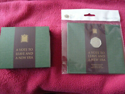 ROYAL MINT BREXIT SOLID SILVER PROOF 50P COIN  PLUS FREE BREXIT 50P 2020 coins