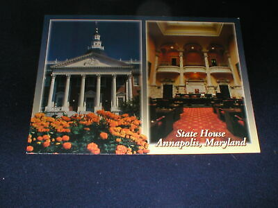 ANNAPOLIS MARYLAND <> The State House 2 Views Postcard