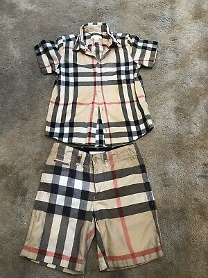 Burberry Kids Top And Shorts Age 6