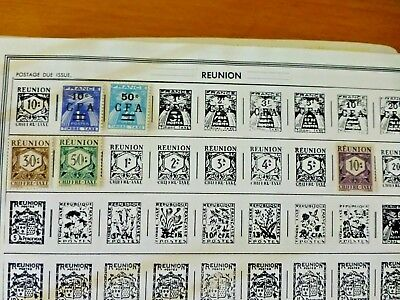Reunion  Postage due  old  good Stamps for your Collection